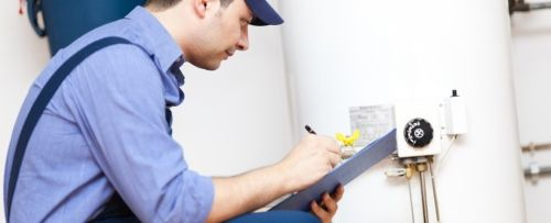 Water heater service technician